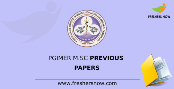 PGIMER M.Sc Previous Papers