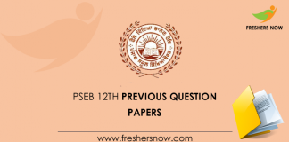 PSEB 12th Model Papers