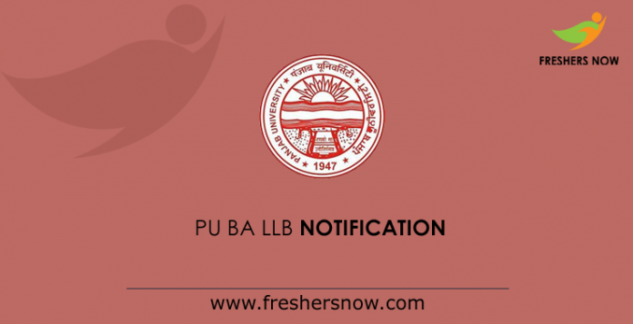 PU BA LLB Notification