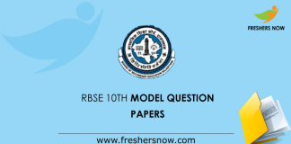 RBSE 10th Model Question Papers