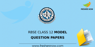 RBSE Class 12 Model Question Papers