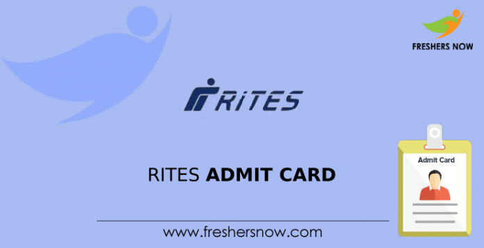 RITES Admit Card