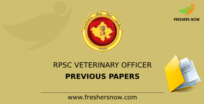 RPSC Veterinary Officer Previous Papers