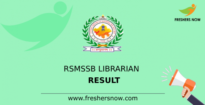 Result of the librarian RSMSSB