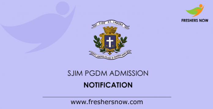 SJIM PGDM Admission Notification