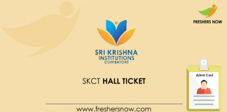 SKCT Hall Ticket
