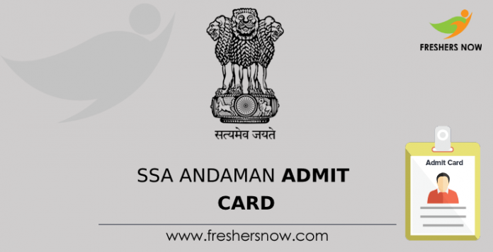 Andaman SSA admission card