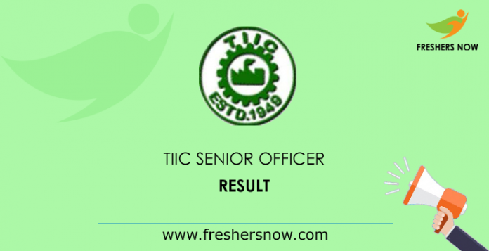 TIIC-Senior-Officer-Result