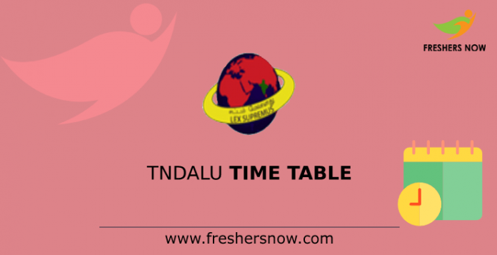 TNDALU Time Table