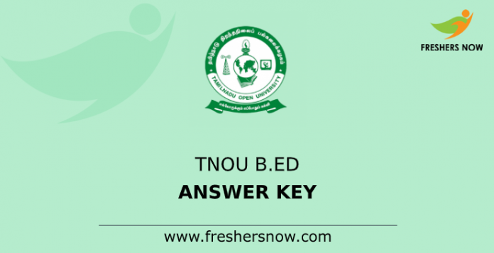 TNOU B.Ed Answer Key
