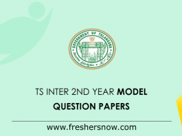 TS Inter 2nd Year Model Question Papers