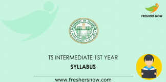 TS Intermediate 1st Year Syllabus