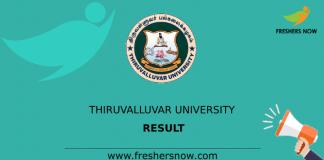 Thiruvalluvar University Result