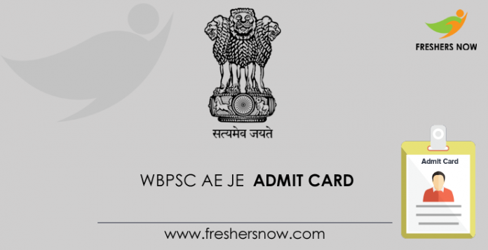 WBPSC AE JE Admission Card