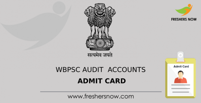 WBPSC Audit Accounts Admit Card