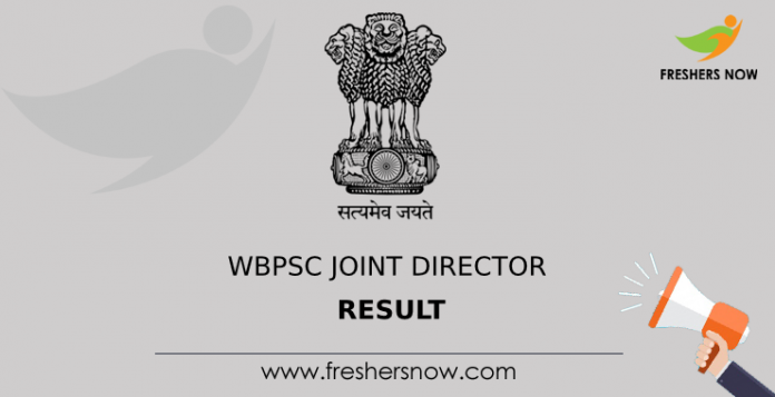 WBPSC Joint Director Result