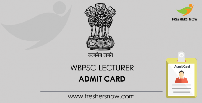 WBPSC Lecturer Admit Card