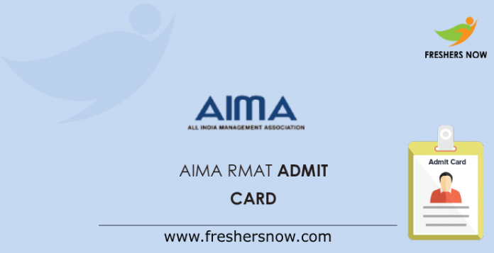 AIMA RMAT Admit Card