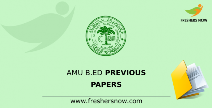 AMU B.Ed Previous Question Papers