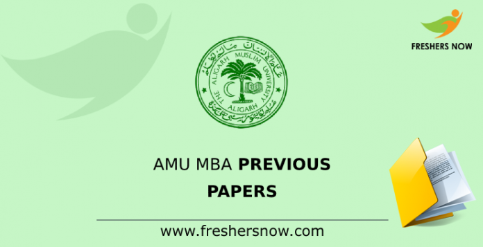 AMU MBA Previous Papers