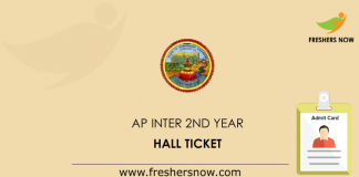 AP Inter 2nd Year Hall Ticket