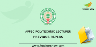 APPSC Polytechnic Lecturer Previous Papers
