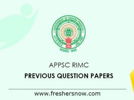 APPSC RIMC Previous Question Papers