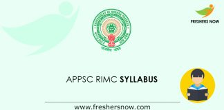 APPSC RIMC Syllabus