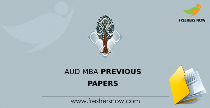 AUD MBA Previous Question Papers