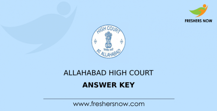 Allahabad High Court Answer Key