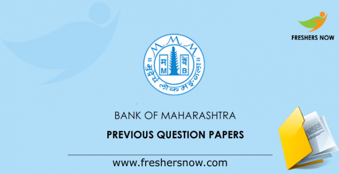 Bank of Maharashtra SO, GO Previous Question Papers