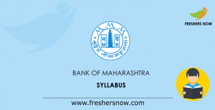 Bank of Maharashtra Officer Syllabus