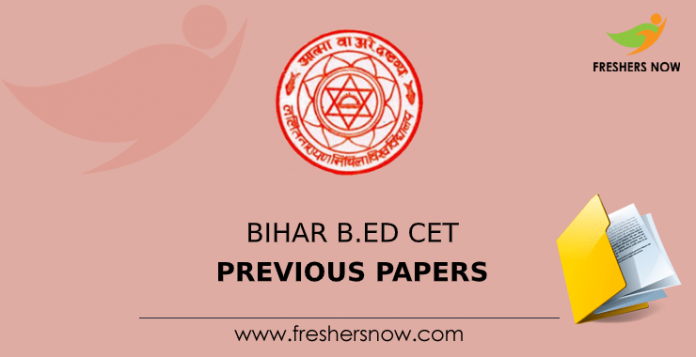 Bihar B.Ed CET Previous Question Papers