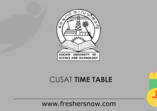 CUSAT Time Table