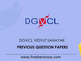 DGVCL Vidyut Sahayak Previous Question Papers