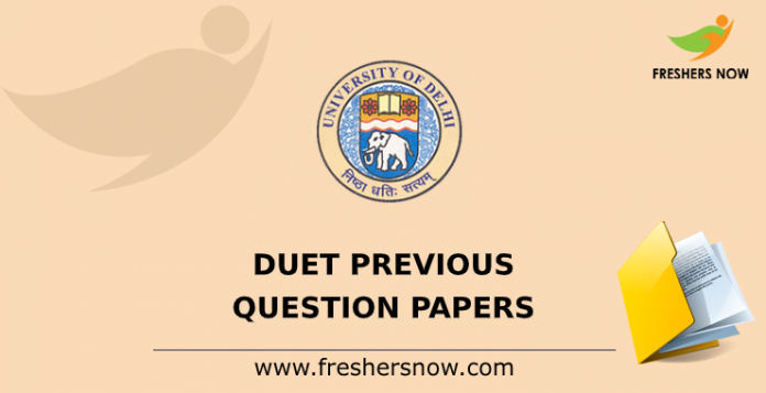 DUET Previous Question Papers