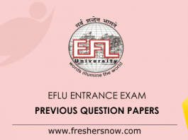EFLU Entrance Exam Previous Question Papers