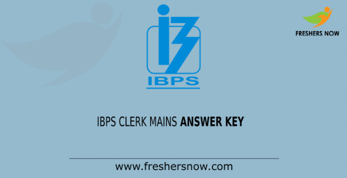 IBPS CLERK MAINS answer key