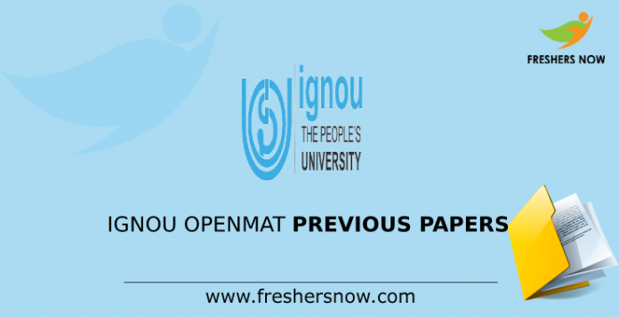 IGNOU OPENMAT Previous Question Papers