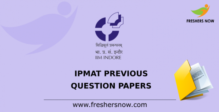 IPMAT Previous Question Papers