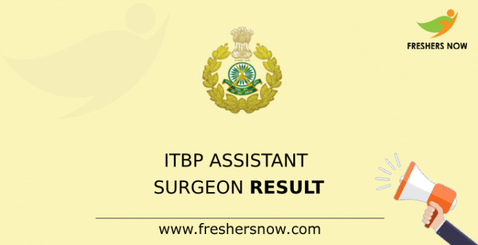 ITBP Assistant Surgeon Result