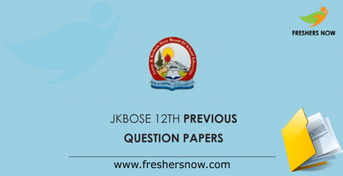 JKBOSE 12th Previous Question Papers