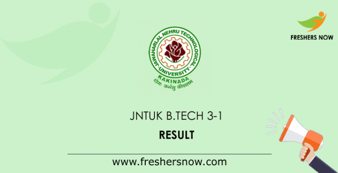 JNTUK B.Tech 3-1 Results