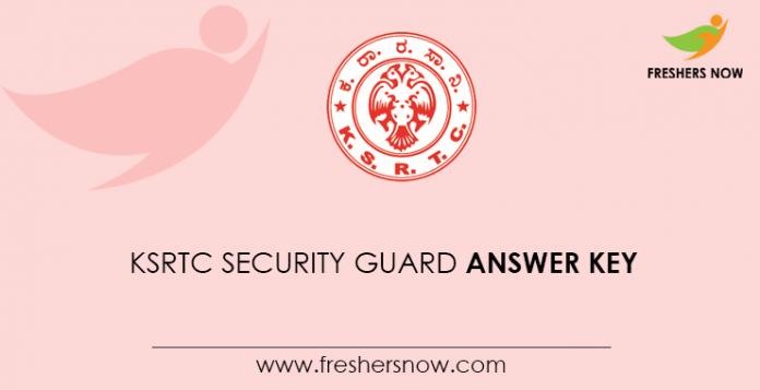 KSRTC Security Guard Answer Key
