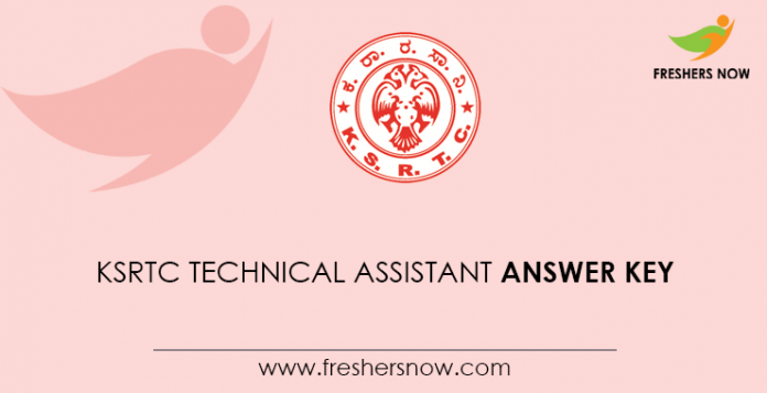KSRTC Technical Assistant Answer Key