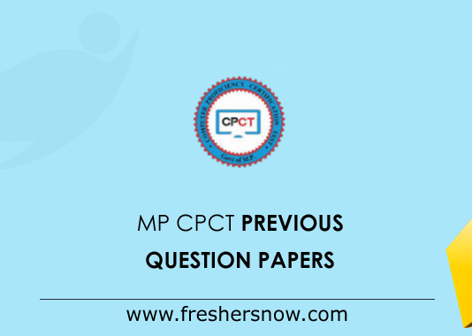 MP CPCT Previous Question Papers