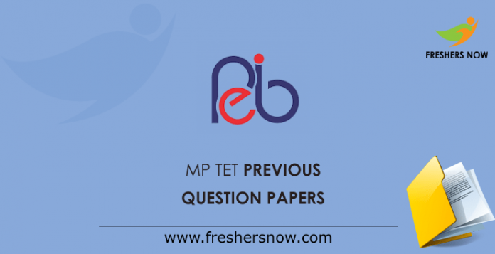 MP TET Previous Question Papers