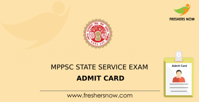 MPPSC State Service Exam Admit Card