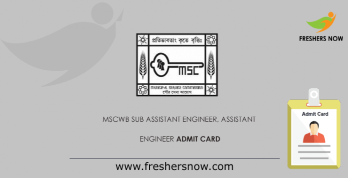 MSCWB-Sub-Assistant-Engineer,-Assistant-Engineer-Admit-Card