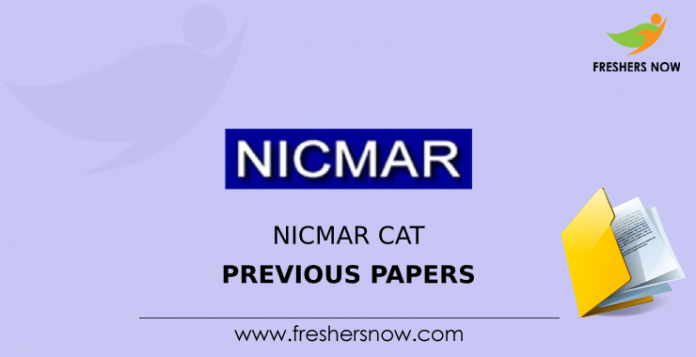 NICMAR CAT Previous Question Papers